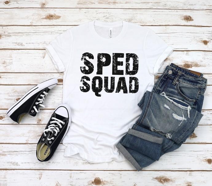 SPED Squad Tee, Team Teacher Shirt, School Spirit Shirt,  SPED Teacher Shirt,