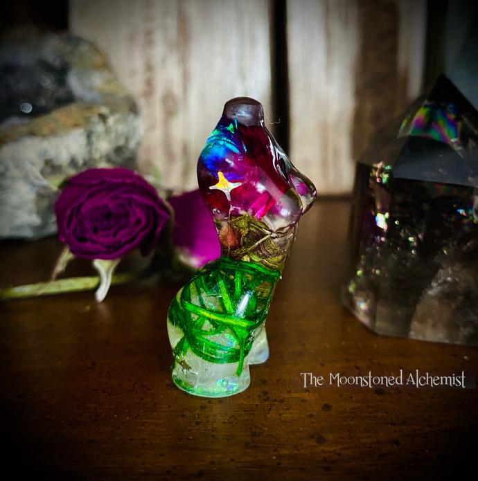 Mini Botanical Babe with Amethyst
