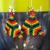 Vivid rainbow bead earrings