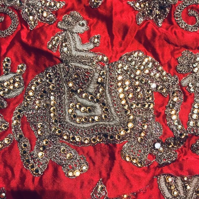 L24 HORSE, ELEPHANT Vintage Beaded Boho Piece, Junk Journal Embellishments,