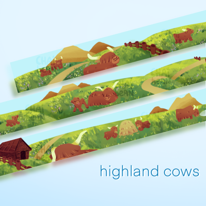 Highland cows washi tape (PREORDER)