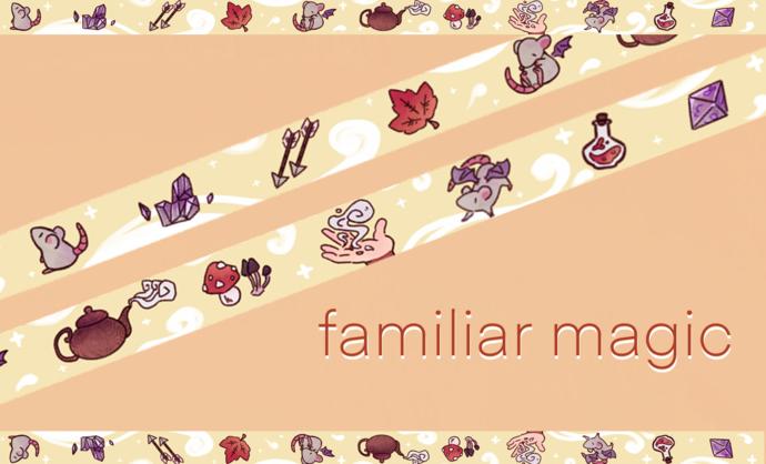 Familiar magic washi tape (PREORDER)