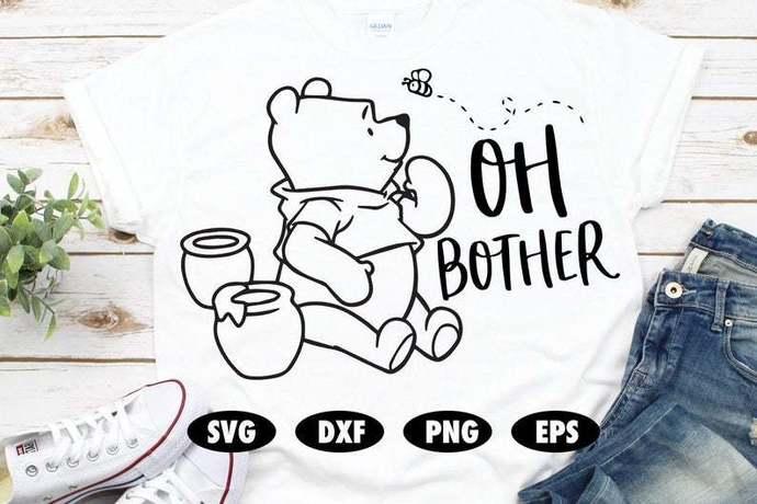Oh bother SVG, Winnie the pooh svg, Honey svg, Piglet svg, Funny svg, Disney