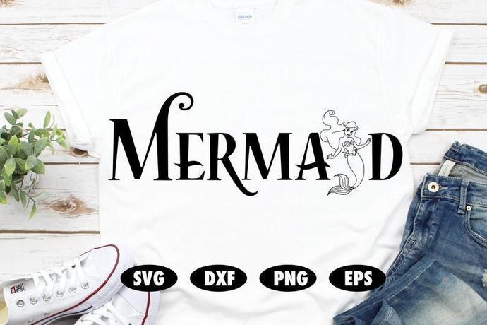 Mermaid svg, The Little mermaid svg, Ariel svg, Flounder svg, Funny svg, Disney