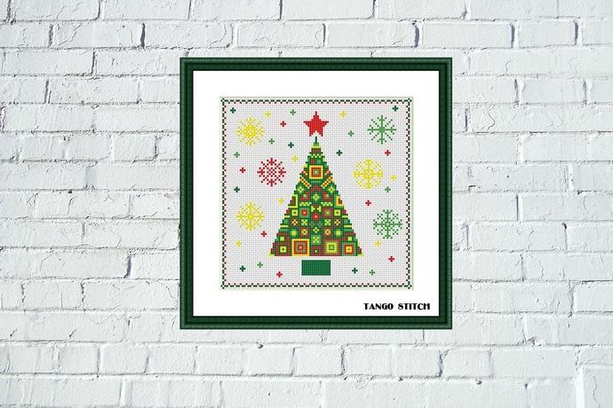 Ornament Christmas tree cross stitch pattern Tango Stitch