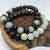 Amazonite and Wood Bead Stretch Bracelet Duo