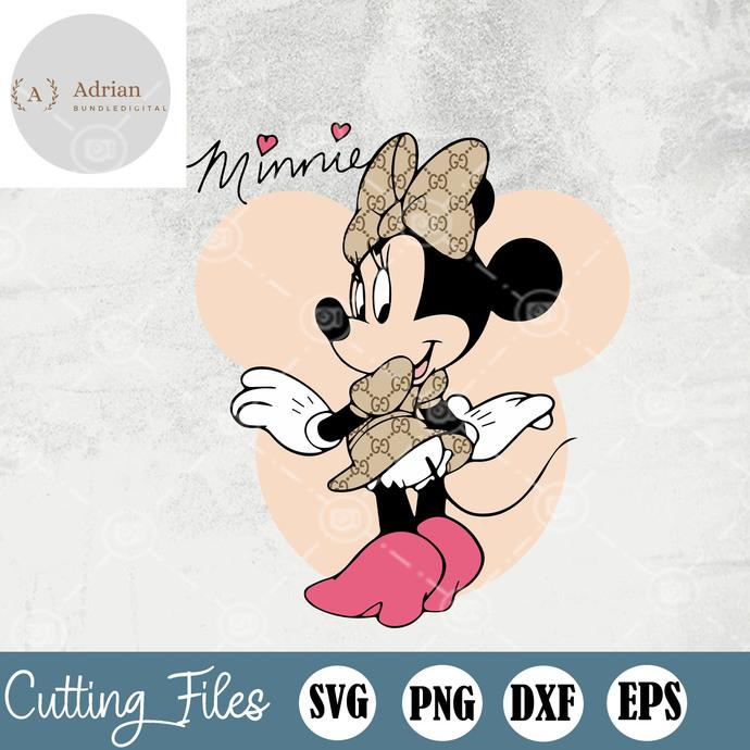 Minnie Mouse Fashion Gucci Svg, Minnie Mouse Gucci Sv, Mickey Mouse Gucci,