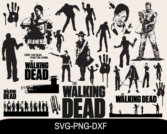The Walking Dead Svg Bundle, Svg For Cricut, Svg Bundle, Walking Dead Svg, Dad
