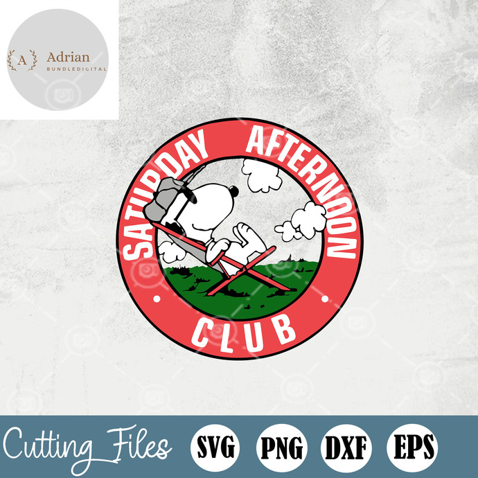 Saturday Afternoon SVG, Snoopy SVG, Funny Snoopy SVG, EPS, DXF, PNG
