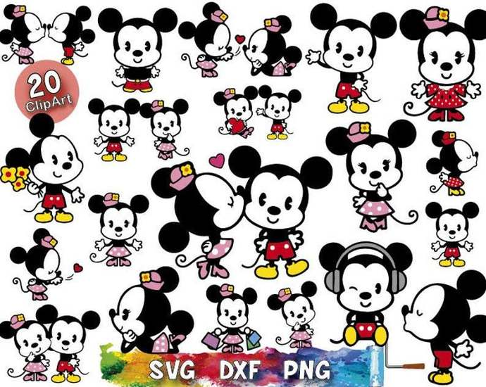 Mickey And Minnie Baby Svg Mickey Mouse By Digitalsvgdream On Zibbet