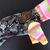 MEDIUM Neon Butterfly Fleece Romper
