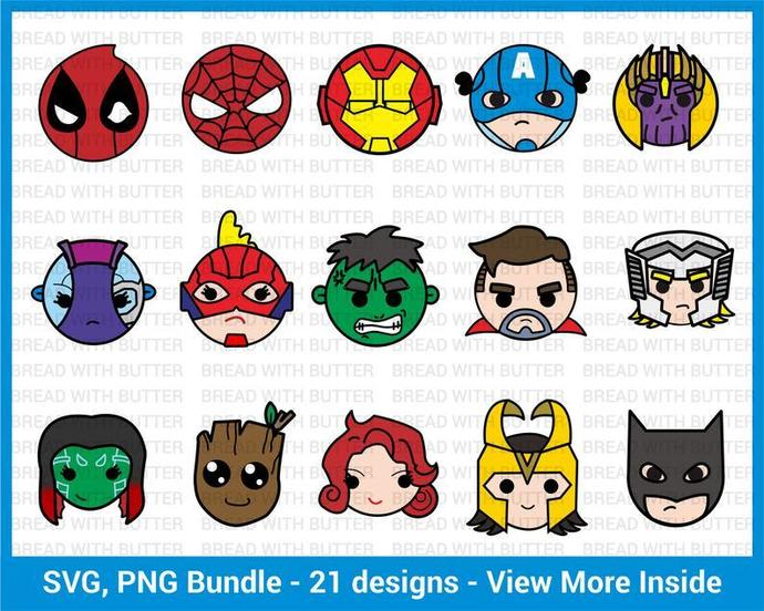 Marvel Heros Bundle, Marvel Characters svg, Marvel Characters Printable,