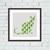 Green geometric cat cross stitch pattern