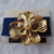 vintage Richelieu gold plated pearl dogwood flower brooch