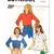Butterick 3351 Girls Pullover Top, Shirt 80s Vintage Sewing Pattern Size 7