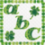 ABC 47a-Digital ClipArt-Fonts-Art Clip-Clover-Gift