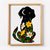 Dog Counted Silhouette Cross Stitch Pattern Flowers Nature Cross Stitch Pattern