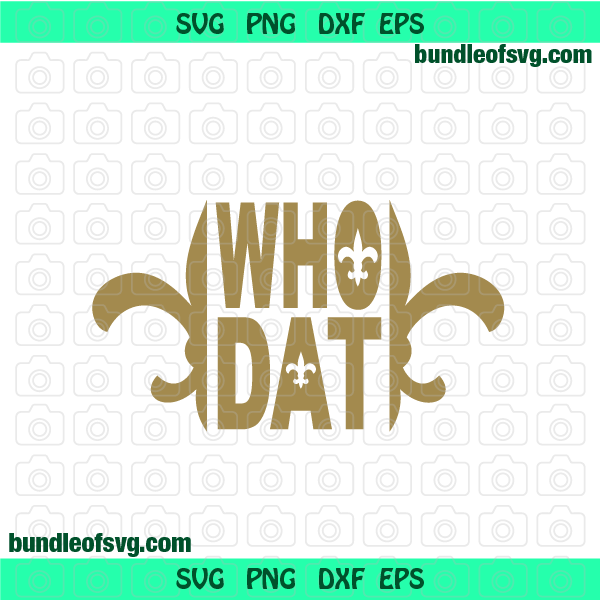 New Orleans Saints svg Who Dat svg Rugby svg svg eps png dxf Instant Download