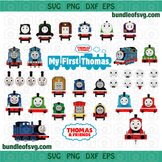Bundle Thomas and friends SVG Thomas the train svg Birthday Party Supplies Shirt