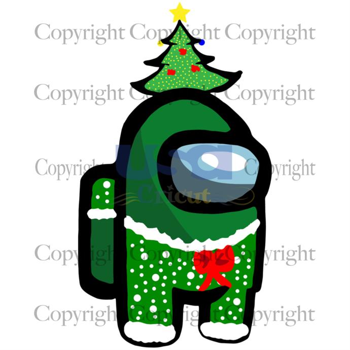 Among Us Christmas, Christmas Svg, Merry Christmas, Xmas Svg, Christmas Eve Svg,