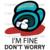 I Am Fine Do Not Worry Among Us, Trending Svg, Among Us Svg, Trending Game Svg,