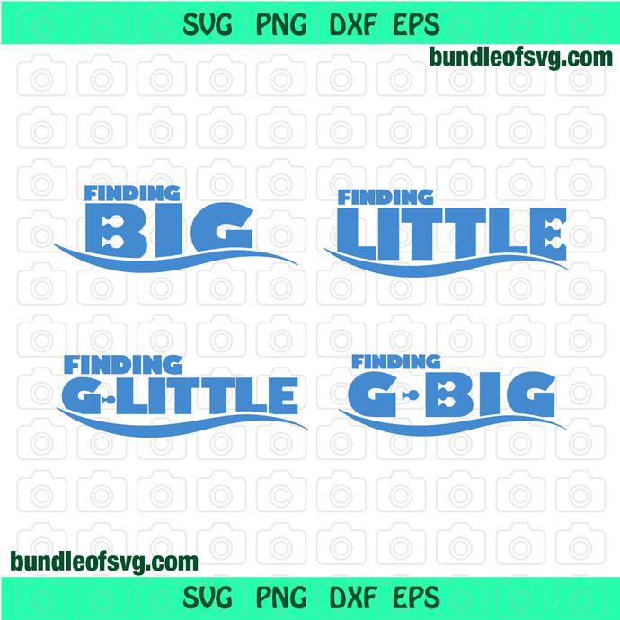 Finding Big Finding Little svg Little Big svg G big G Little svg Sorority svg