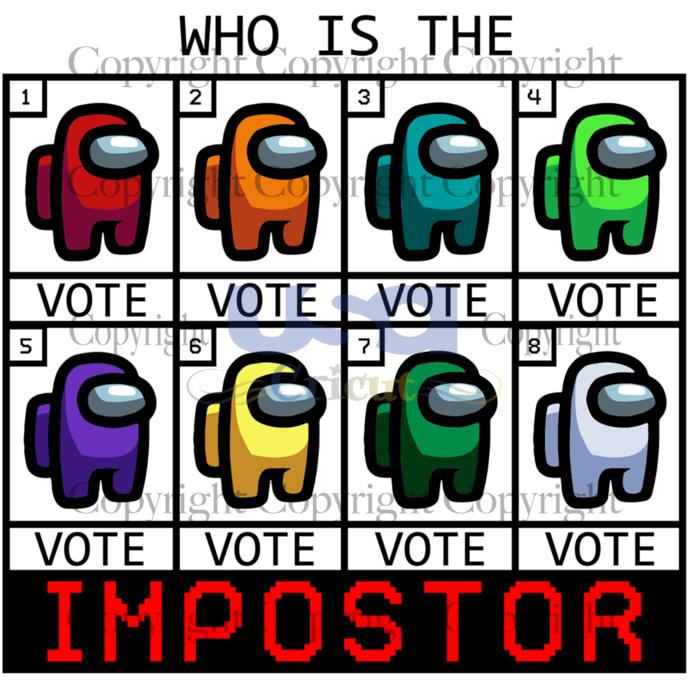 Who is the impostor, trending svg, among us svg, among us gift, funny among us,