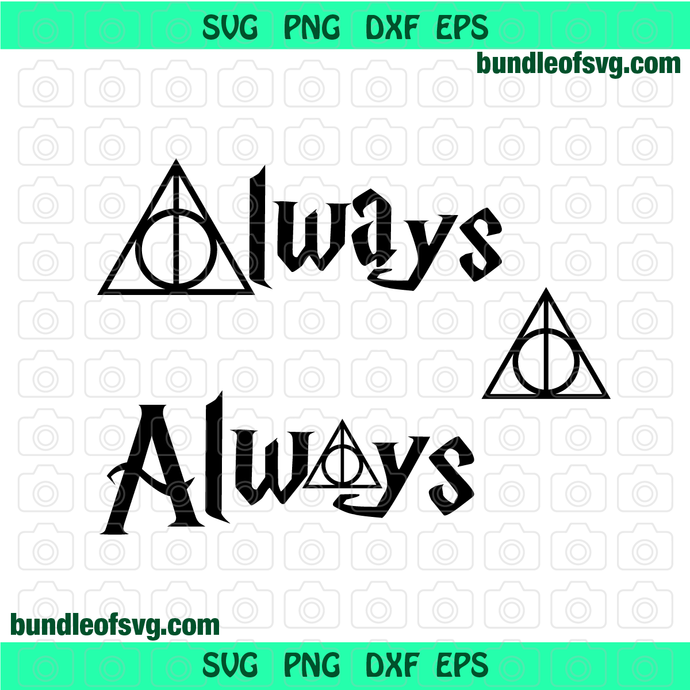 SVG Harry Potter Deathly Hallows Always svg Ornament svg eps png dxf Instant
