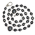 925 Silver Black Spinel Chain,Pave Diamond Clasps,Black Spinel and Pave Diamond