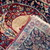Handmade antique Persian Kerman Lavar rug 2.1' x 3.2' ( 64cm x 97cm ) 1880s -