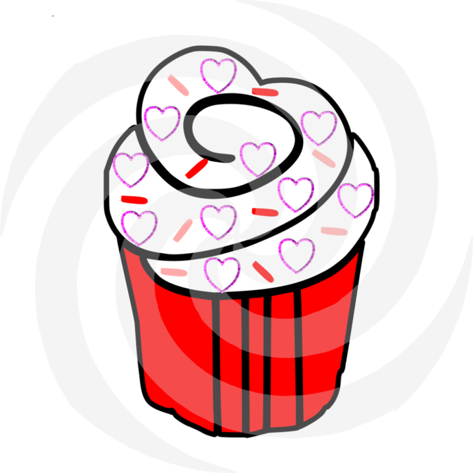 CupCake 50-Digital ClipArt-Party-Art Clip-Gift