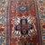 Handmade antique Persian Heriz distressed rug 4.2' x 6.4' ( 128cm x 195cm )
