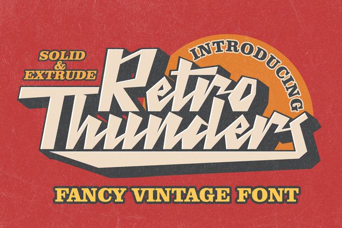 Vintage Font, Bold Font, Retro Font, Premium Font, Branding Font, Advertisement