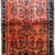Handmade antique Persian Sarouk rug 3.5' x 5.3' ( 106cm x 161cm ) 1900s - 1B694