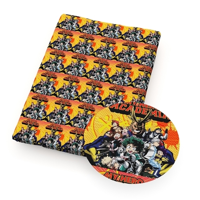 my hero academia  poliester and cotton fabric  (a half of a yard)
