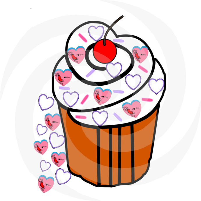 CupCake 57-Digital ClipArt-Party-Art Clip-Gift