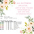 Pink roses floral wreath cross stitch pattern flowers cross stitch chart DIY