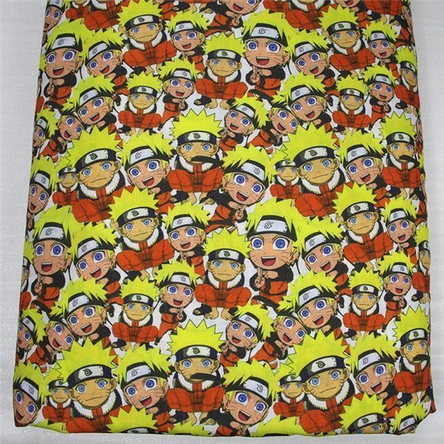 naruto  poliester and cotton fabric  (a half of a yard)