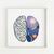 Brain cross stitch pattern human anatomy cross stitch chart galaxy modern