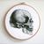 Set of 2 anatomical skull cross stitch pattern PDF anatomy cross stitch modern