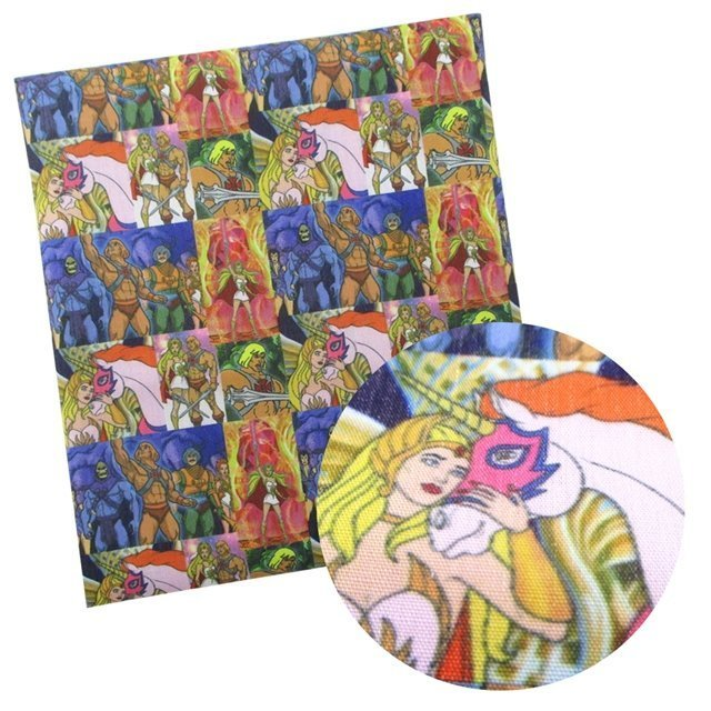 he-man/she-ra  poliester and cotton fabric  (a half of a yard)
