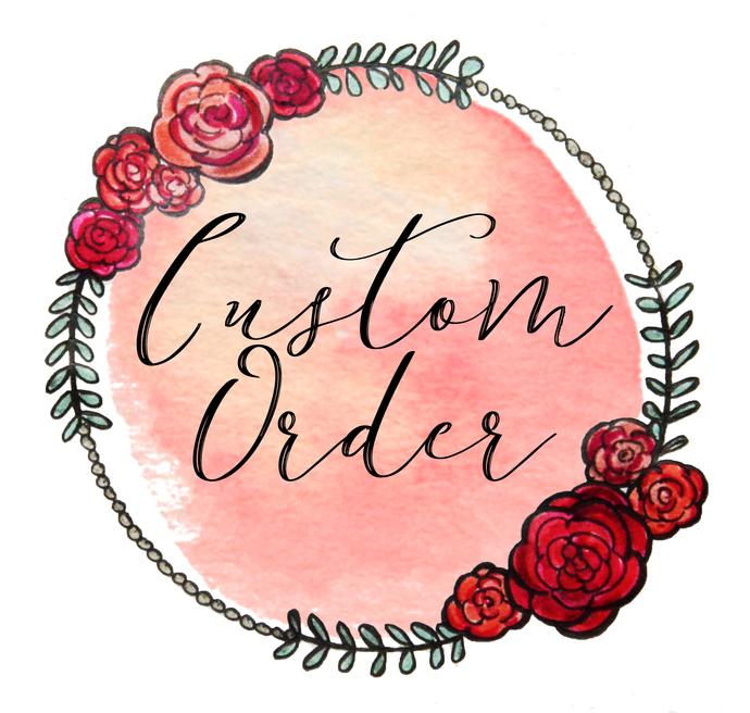Custom Order for Marnie - Unicorn Medium Lizzy Bow