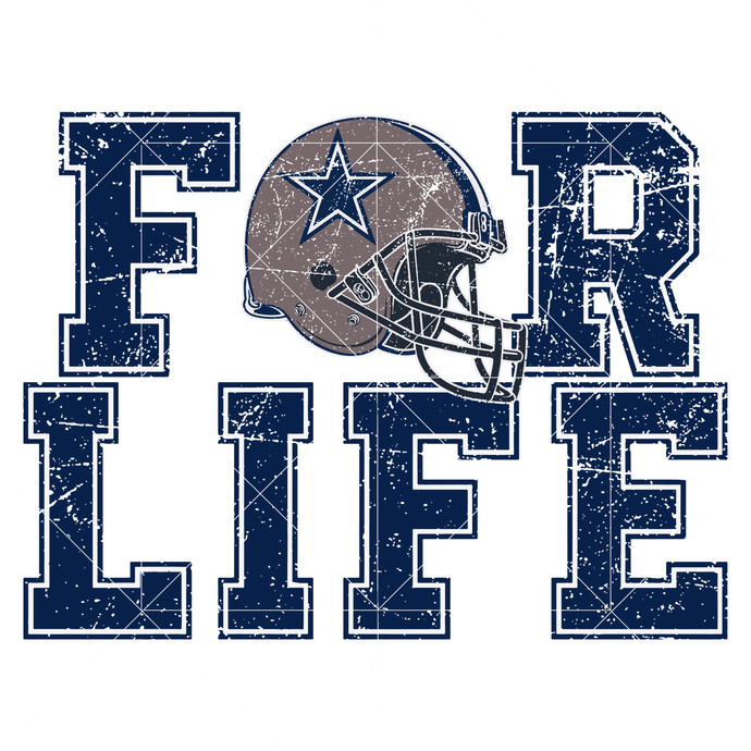 For Life Svg, Dallas Cowboys Logo, Dallas Cowboys Svg, NFL Football Team, NFL