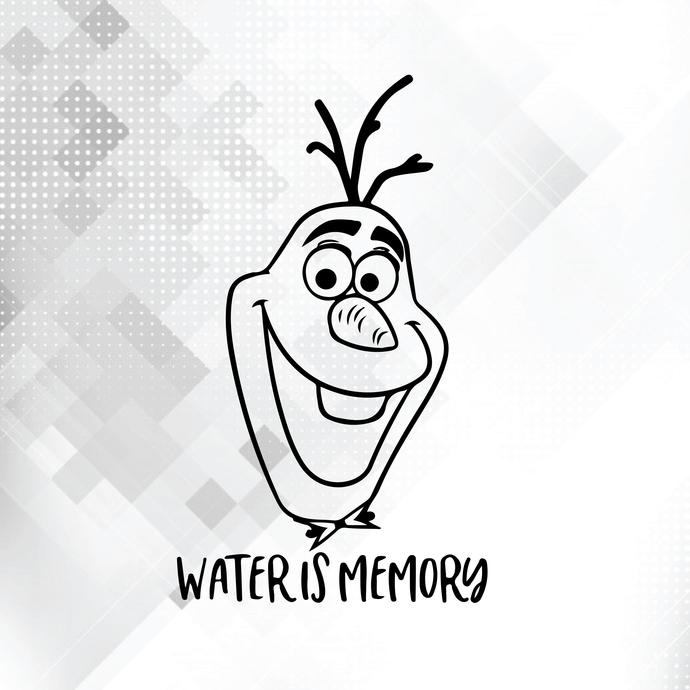 Water is memory svg, Olaf svg, Funny svg, Frozen svg, Elsa svg, Anna svg, Disney