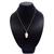 925 Sterling Silver Diamond Baroque Pearl Pendant,Tourmaline Pave Diamond