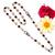 925 Silver Amethyst Bezel Chain,Black Spinel Necklace,Black Spinel