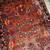Handmade antique Persian Sarouk rug 3.4' x 5.3' ( 103cm x 161cm ) 1920s - 1B697