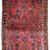 Handmade antique Persian Sarouk rug 3.7' x 5.4' (112cm x 164cm) 1920s - 1B748