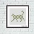 Walking geometric cat cross stitch pattern gift for cats lover