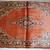 Handmade antique Persian Sarouk rug 3.5' x 5.3' (106cm x 161cm) 1920s - 1B750